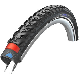 "SCHWALBE Marathon GT 365 Wired-on Draadband 20"" DualGuard E-50 Performance Reflexband, black"